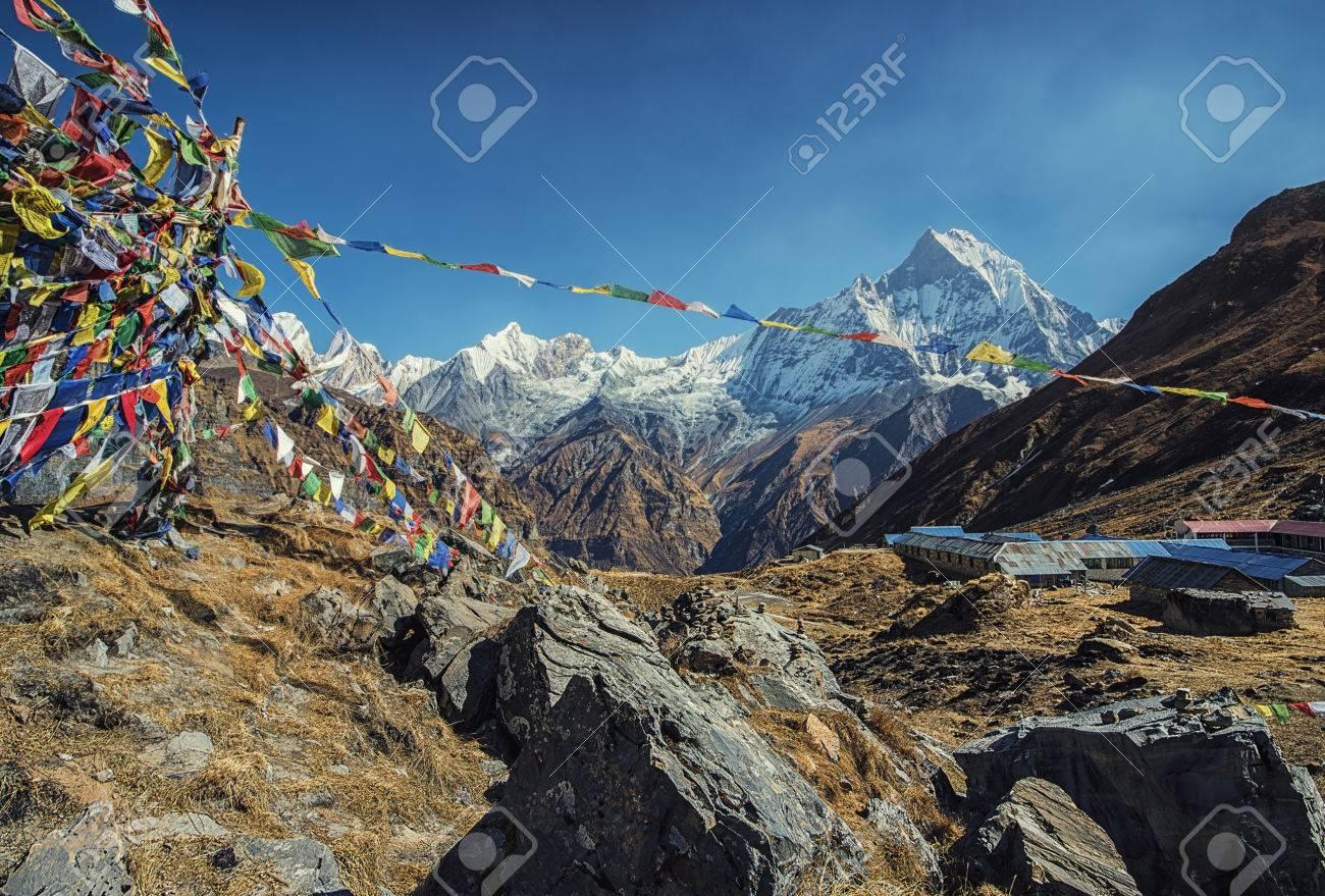 Annapurna base camp in Nepal - 71014537