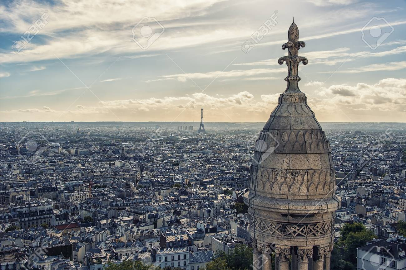 Paris from the sacred heart roof - 105452744