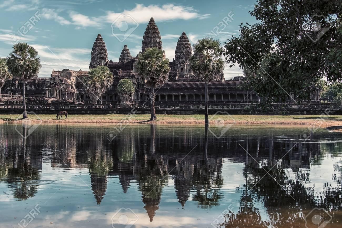 Angkor wat in Siem Reap, Cambodia - 108571412