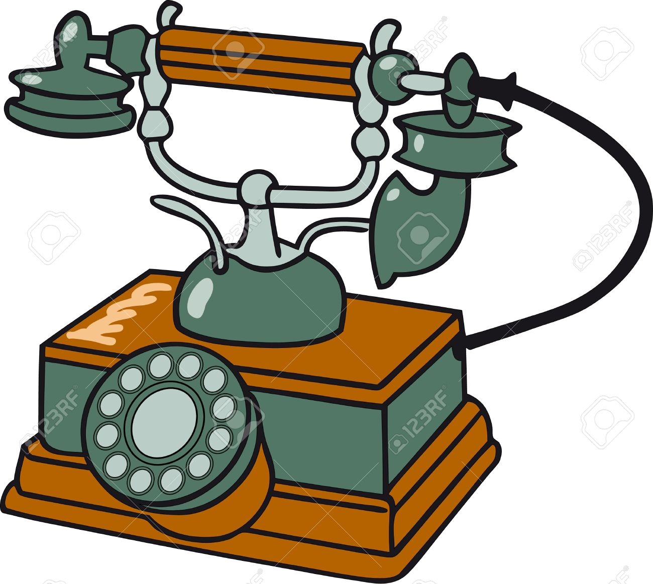 Old  table telephone Stock Vector - 3534516