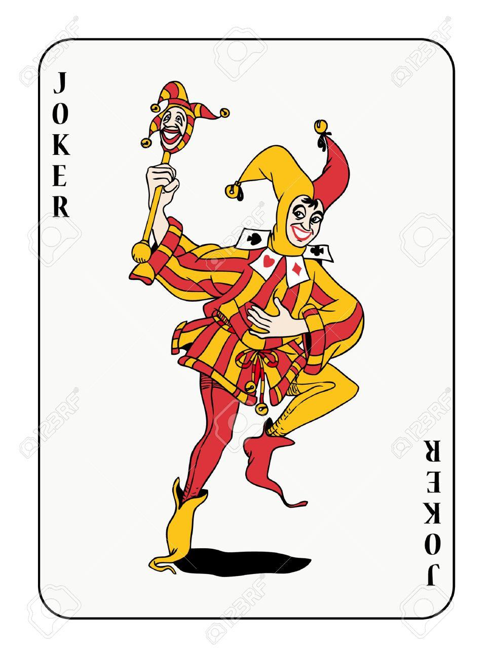 joker playing card Stock Vector - 3578606