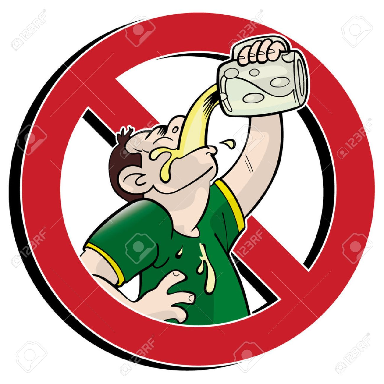 No drinking prohibition sign Stock Vector - 5029327