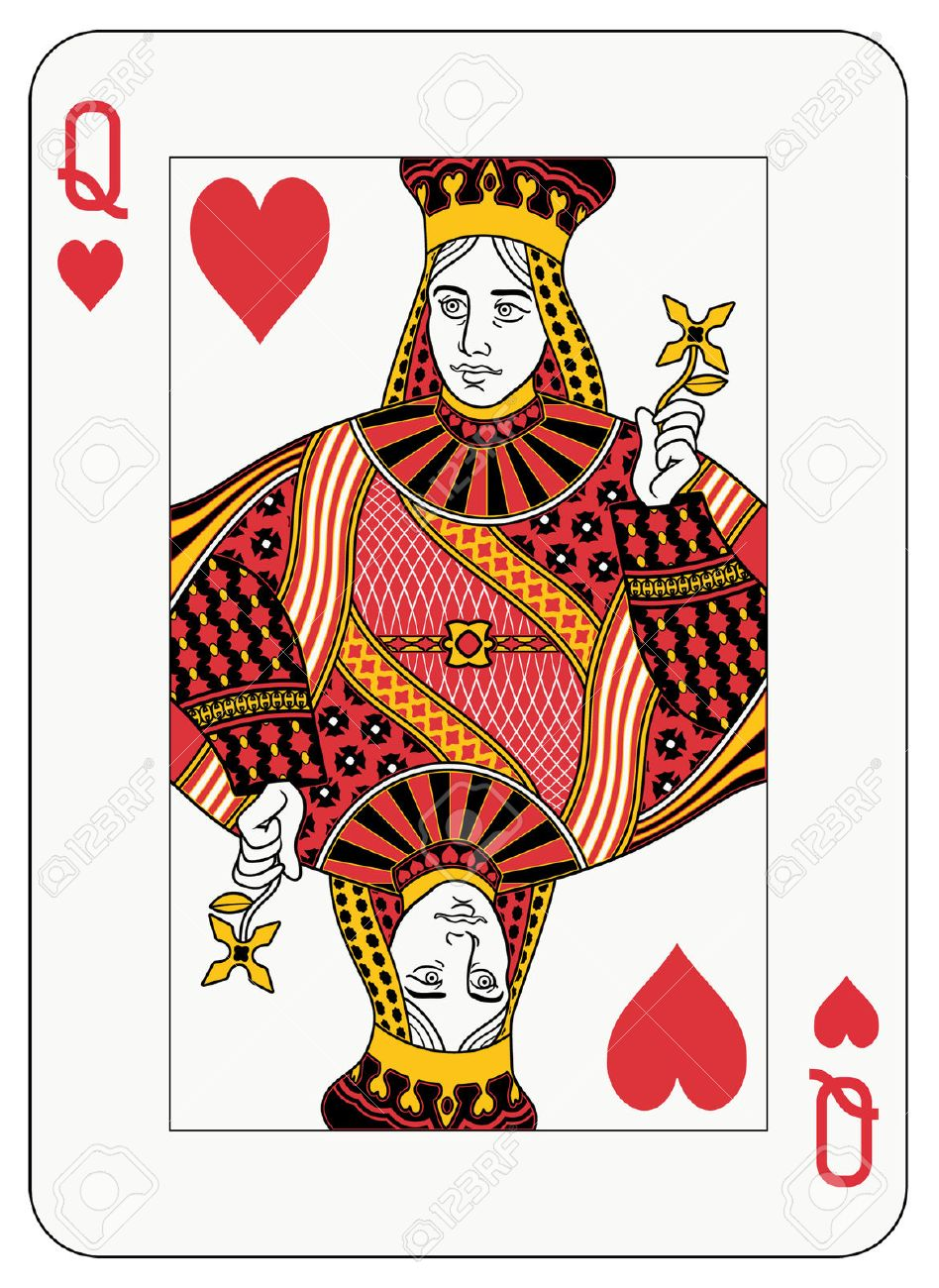 Queen of hearts playing card Stock Photo - 6051899