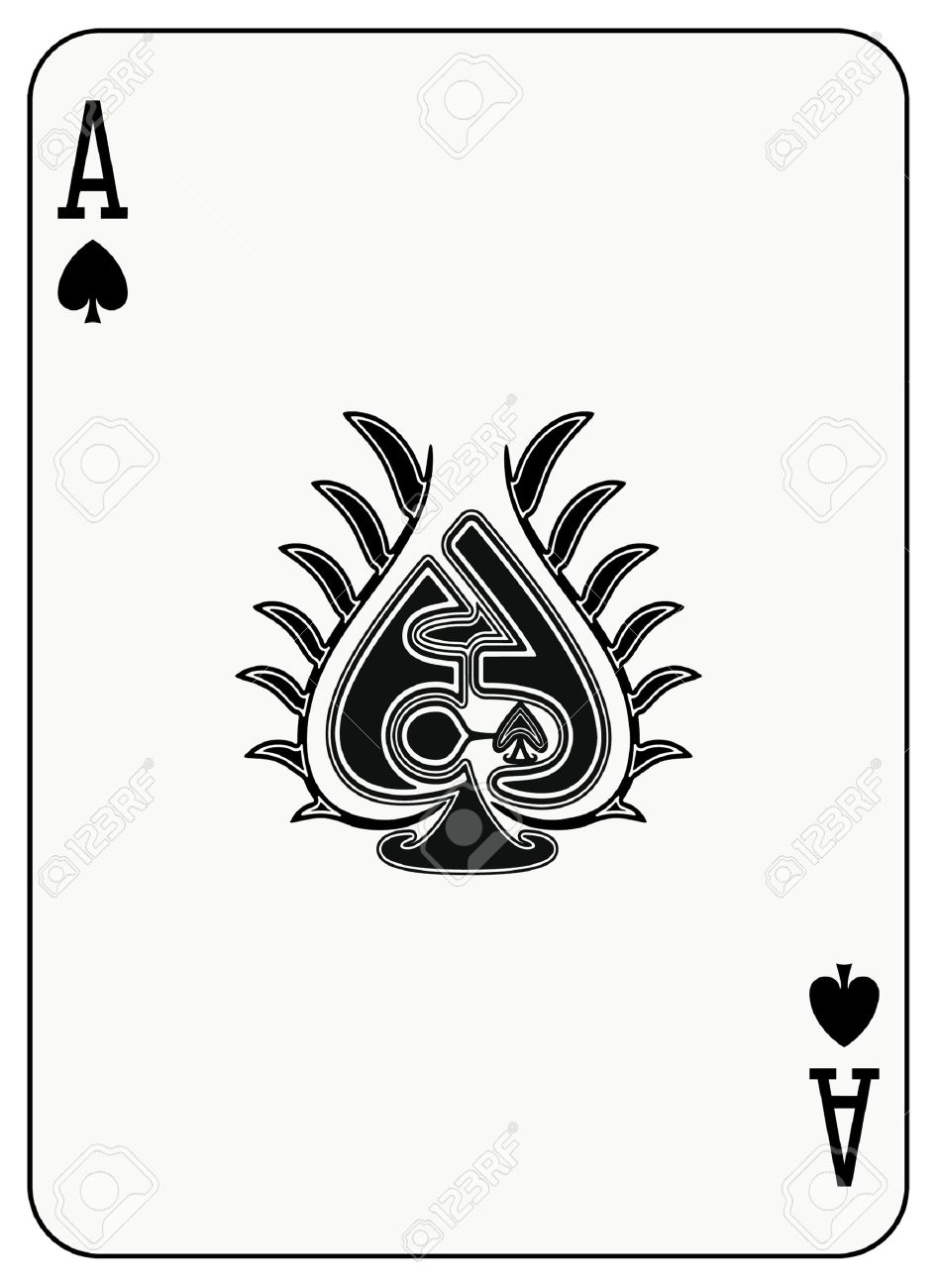 Ace Of Spade Playing Card Royalty Free Cliparts Vectors And Stock