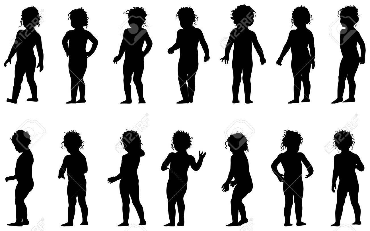 Vector Child Standing,black