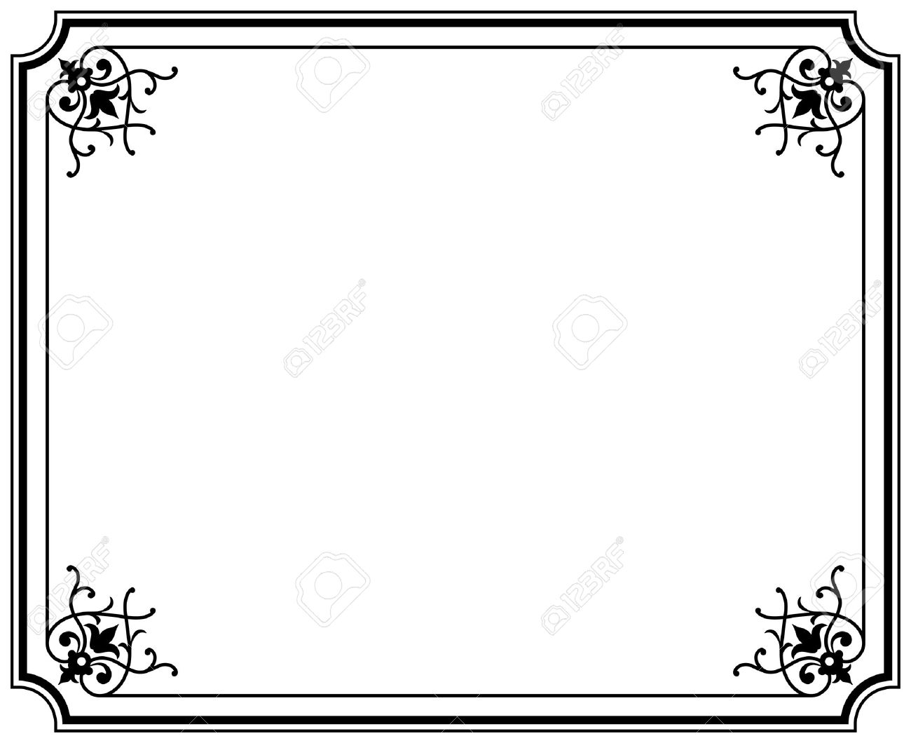 Old Elegant Black And White Frame Magasin Royalty Free Cliparts ...
