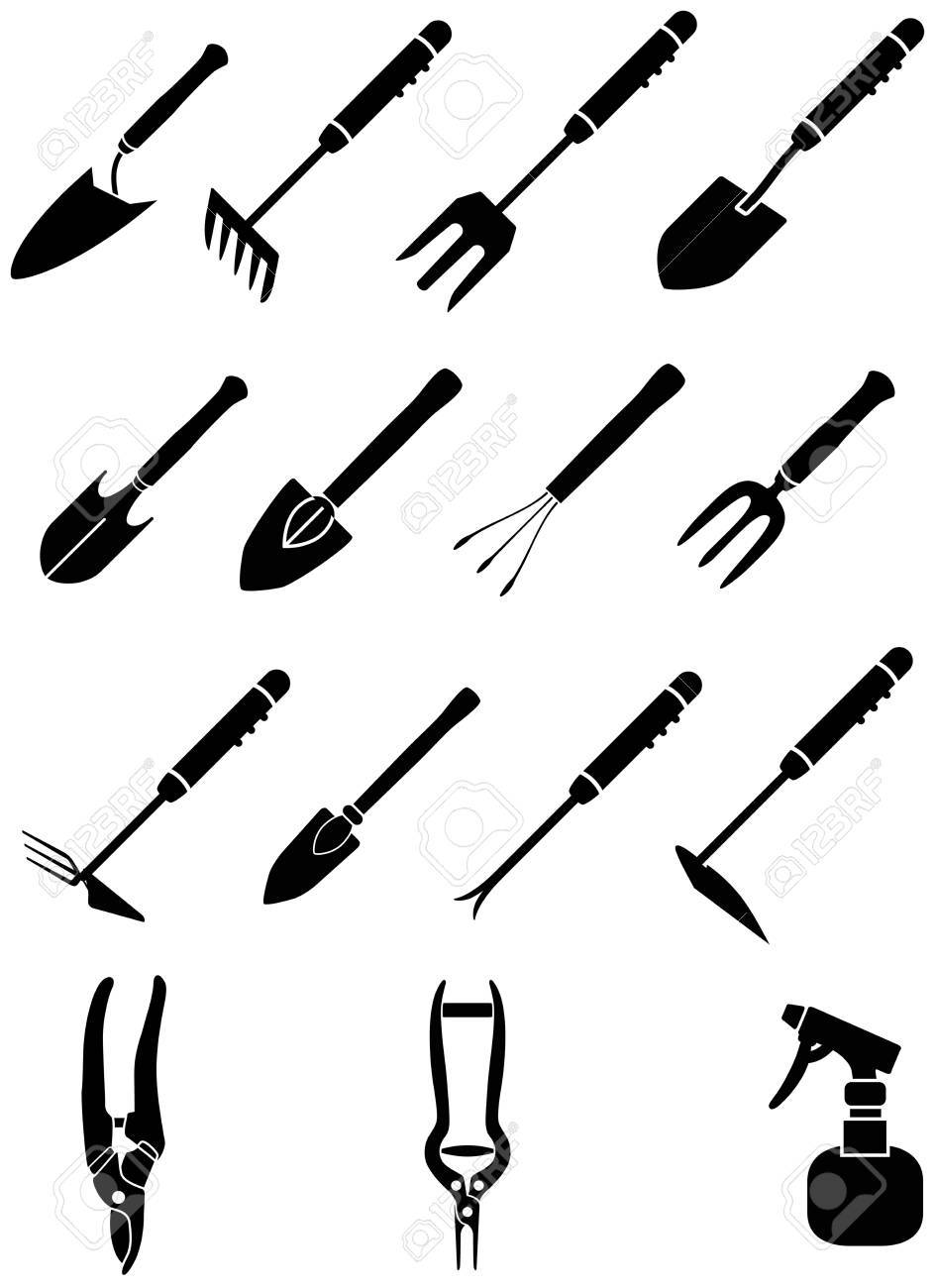 Mini Garden Equipment For Hobbies And Relax Royalty Free Cliparts
