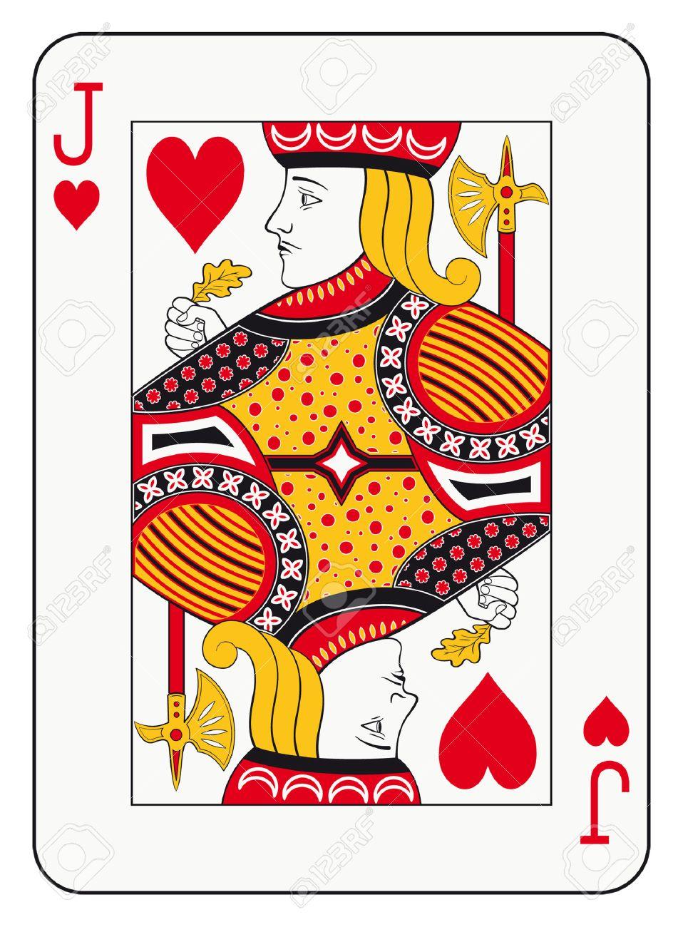 心のトランプのジャックのイラスト素材ベクタ Image 32651169