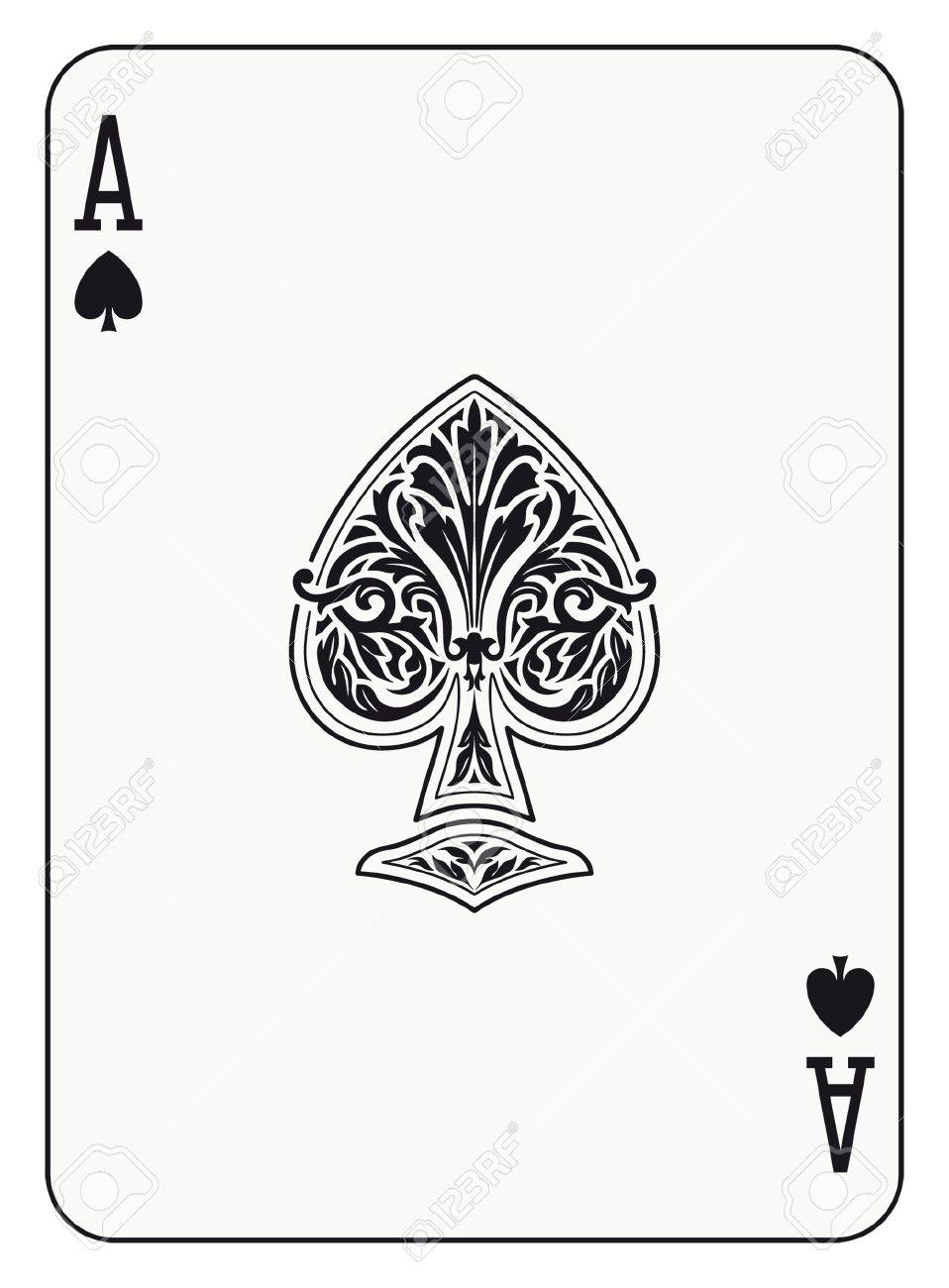 Ace of spades playing card royalty free cliparts vectors and stock ace of spades playing card stock vector 31585104 biocorpaavc Choice Image