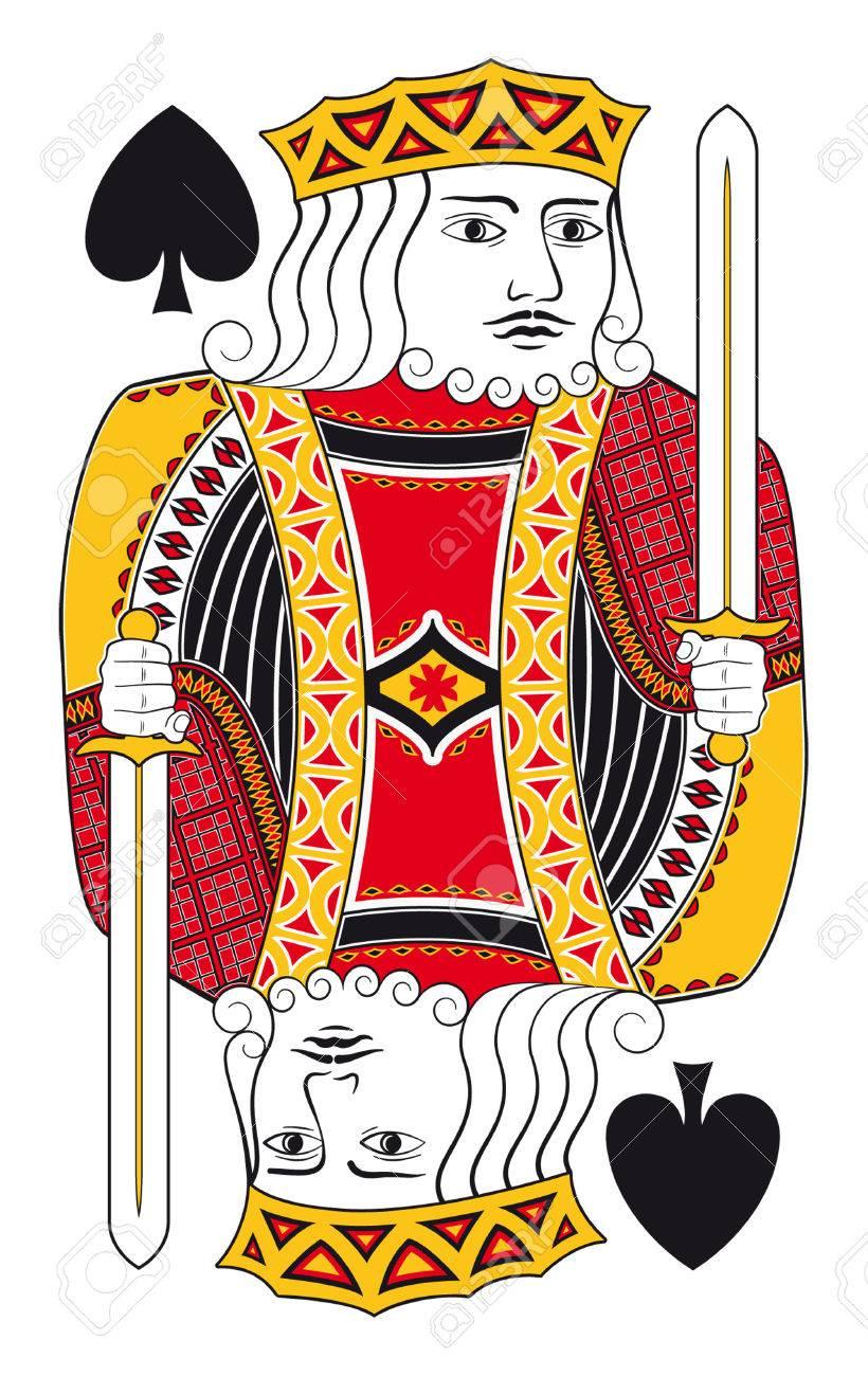 トランプのカード背景なしスペードのキングのイラスト素材 ベクタ Image 34335002
