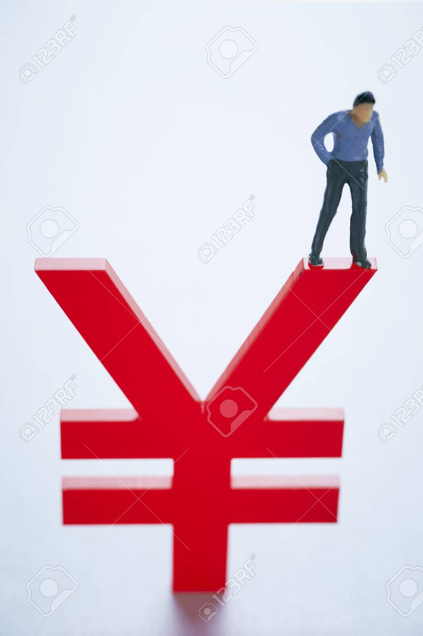 Japanese yenchinese rmb currency symbol with miniature man stock japanese yenchinese rmb currency symbol with miniature man stock photo 74518036 biocorpaavc Gallery