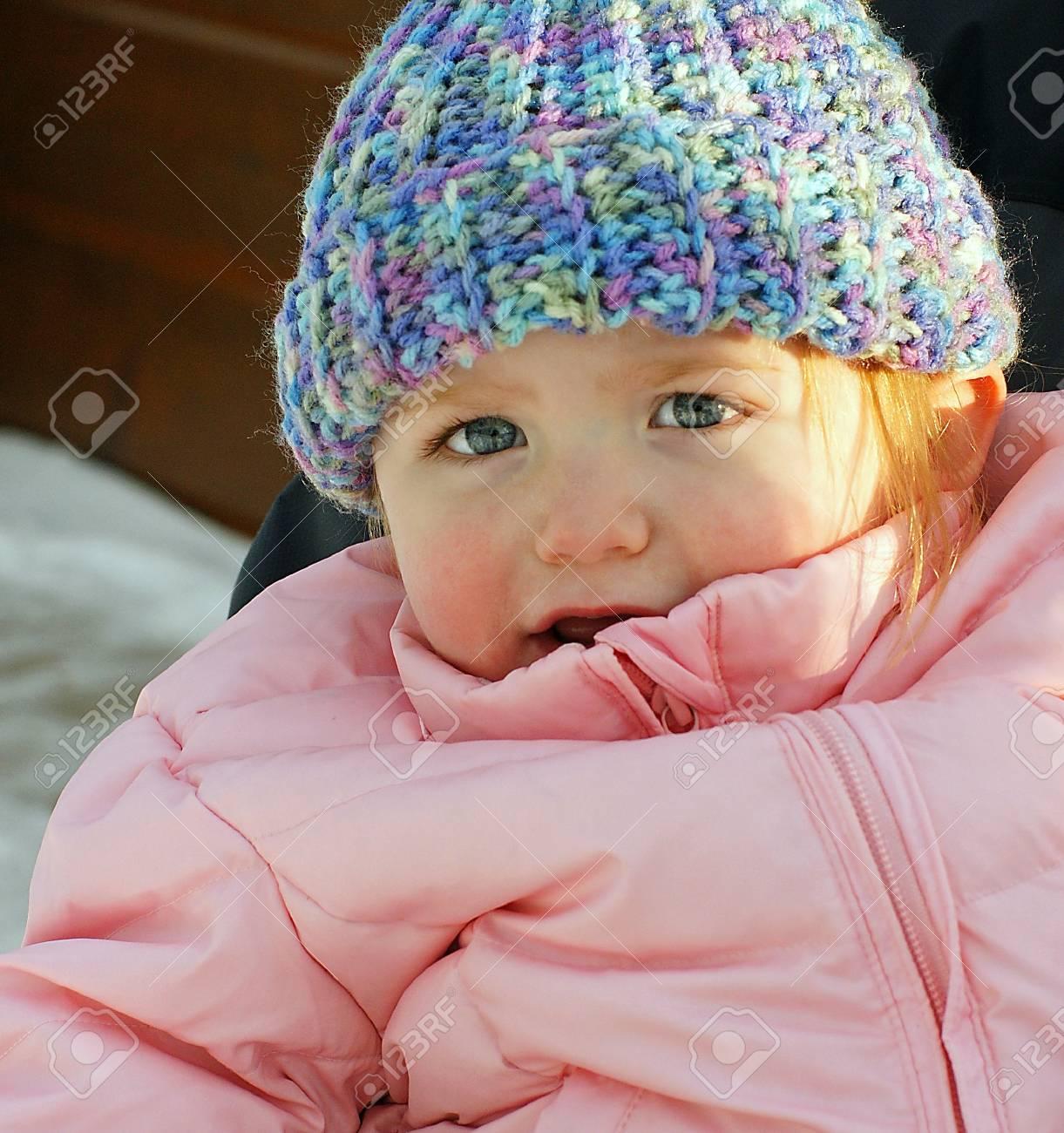 Little girl dressed for Winter - 4147468
