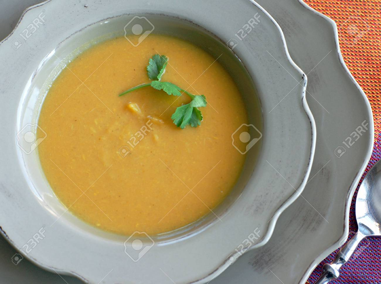 Curried Sweet Potato and Apple soup satisfies an appetite and provides an important source of antioxidants for optimum health and wellness - 4294848