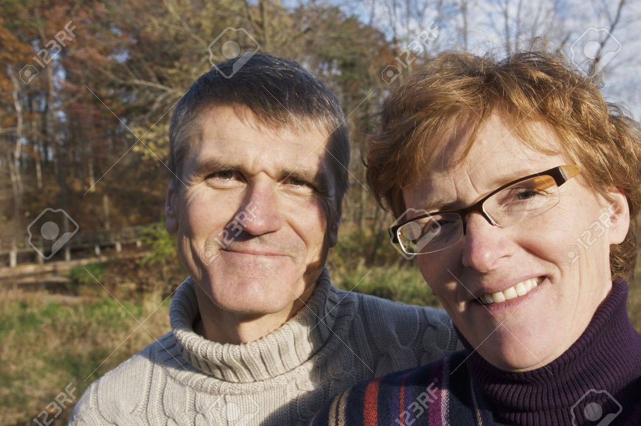 Baby Boomer Couple Outdoors - 5850855