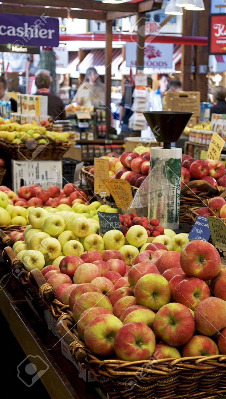 Apples for sale at the Granville Island market in Vancouver, Canada - 10863684