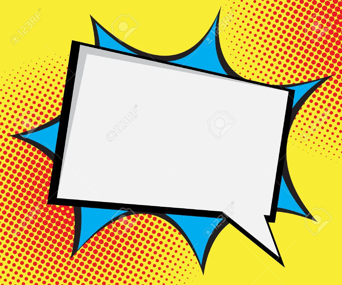 speech bubble pop art comic book background vector illustration rh 123rf com background vector png background vector graphics