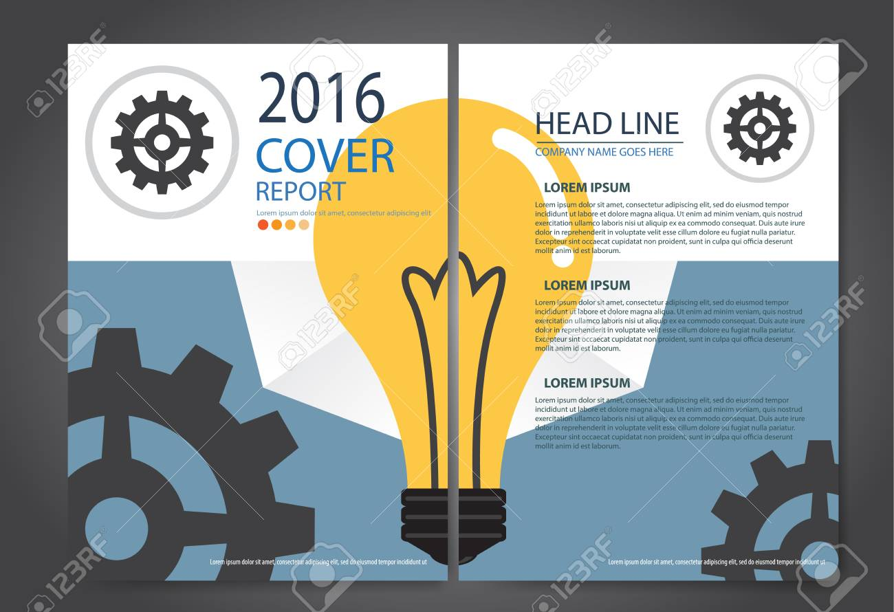 abstract business cover brochure template layout report booklet