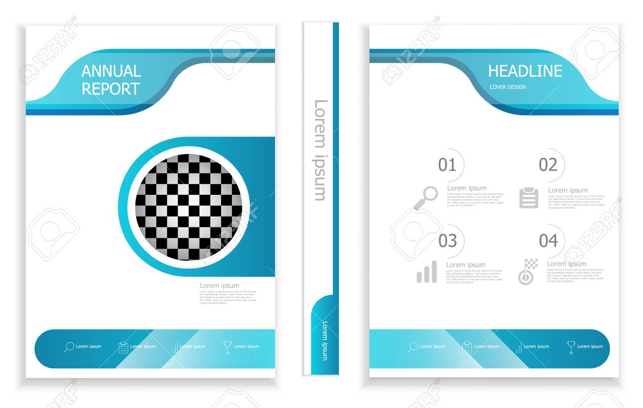 illustration of modern business brochure design template cover