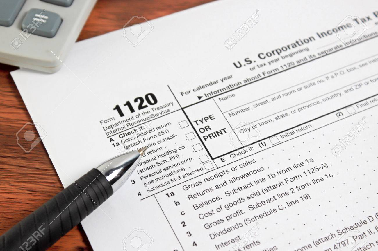 US Tax Form 1020/ Taxation Concept Stock Photo, Picture And ...