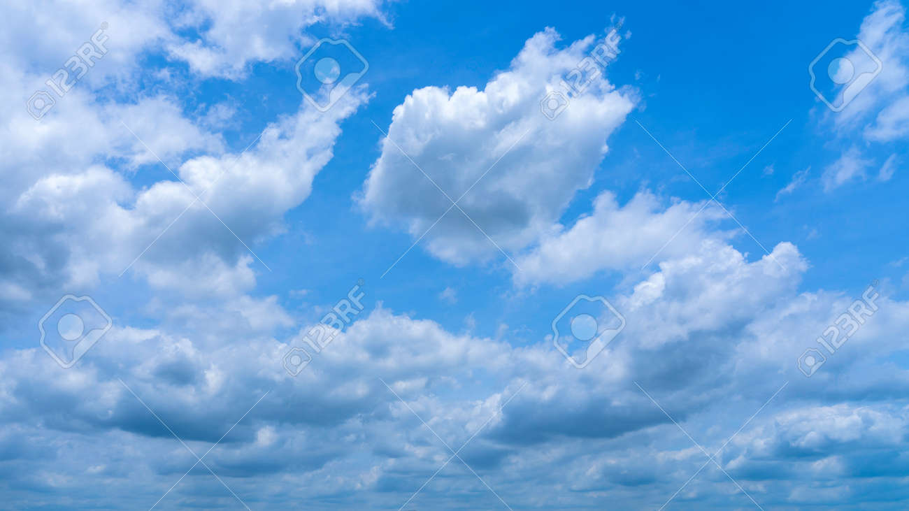 Beautiful blue sky and clouds background - 171207315