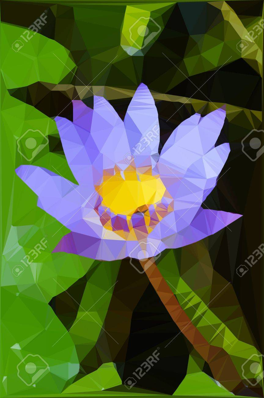 Blue lotus flower images images flower decoration ideas low polygon blue lotus flower royalty free stok fotoraf resimler low polygon blue lotus flower stok izmirmasajfo