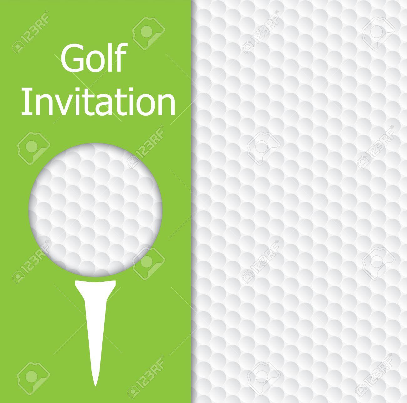 golf turnier einladung grafikdesign. das design repräsentiert, Einladung