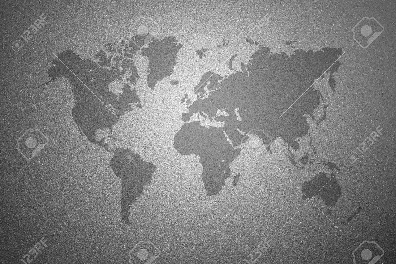 World map on gray frosted glass texture as background interior stock photo world map on gray frosted glass texture as background interior decoration design for windows or doors gumiabroncs Images