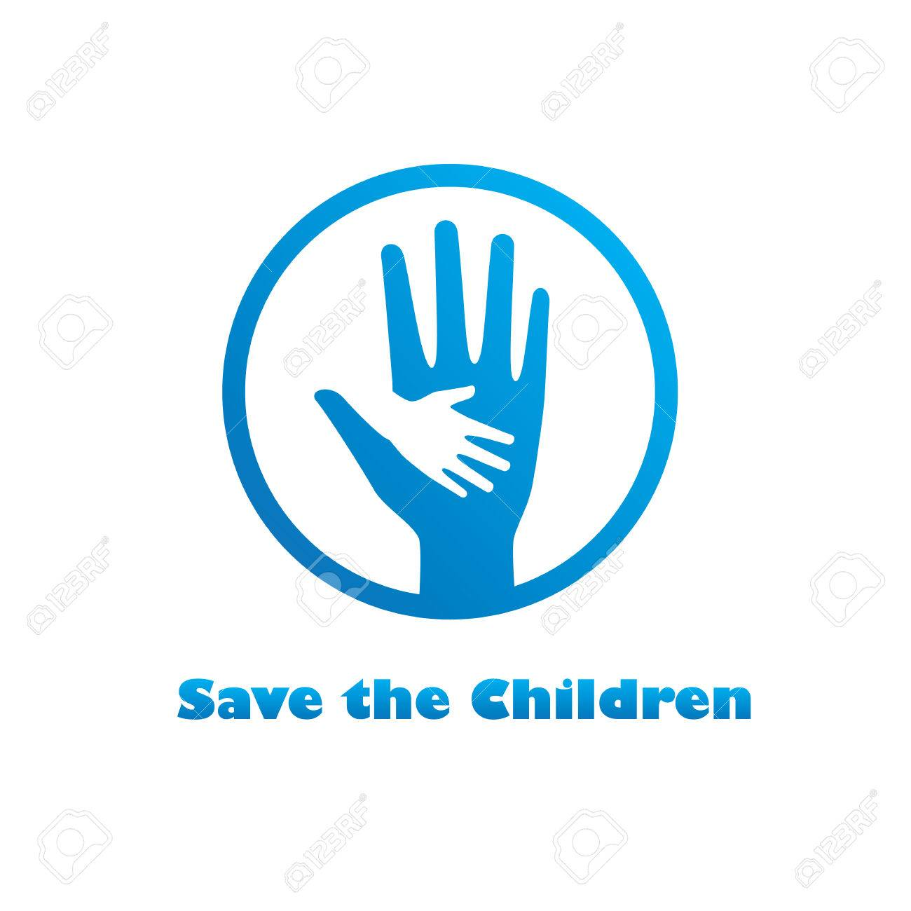 Save the children logo  Save kids from torture, hungry for their