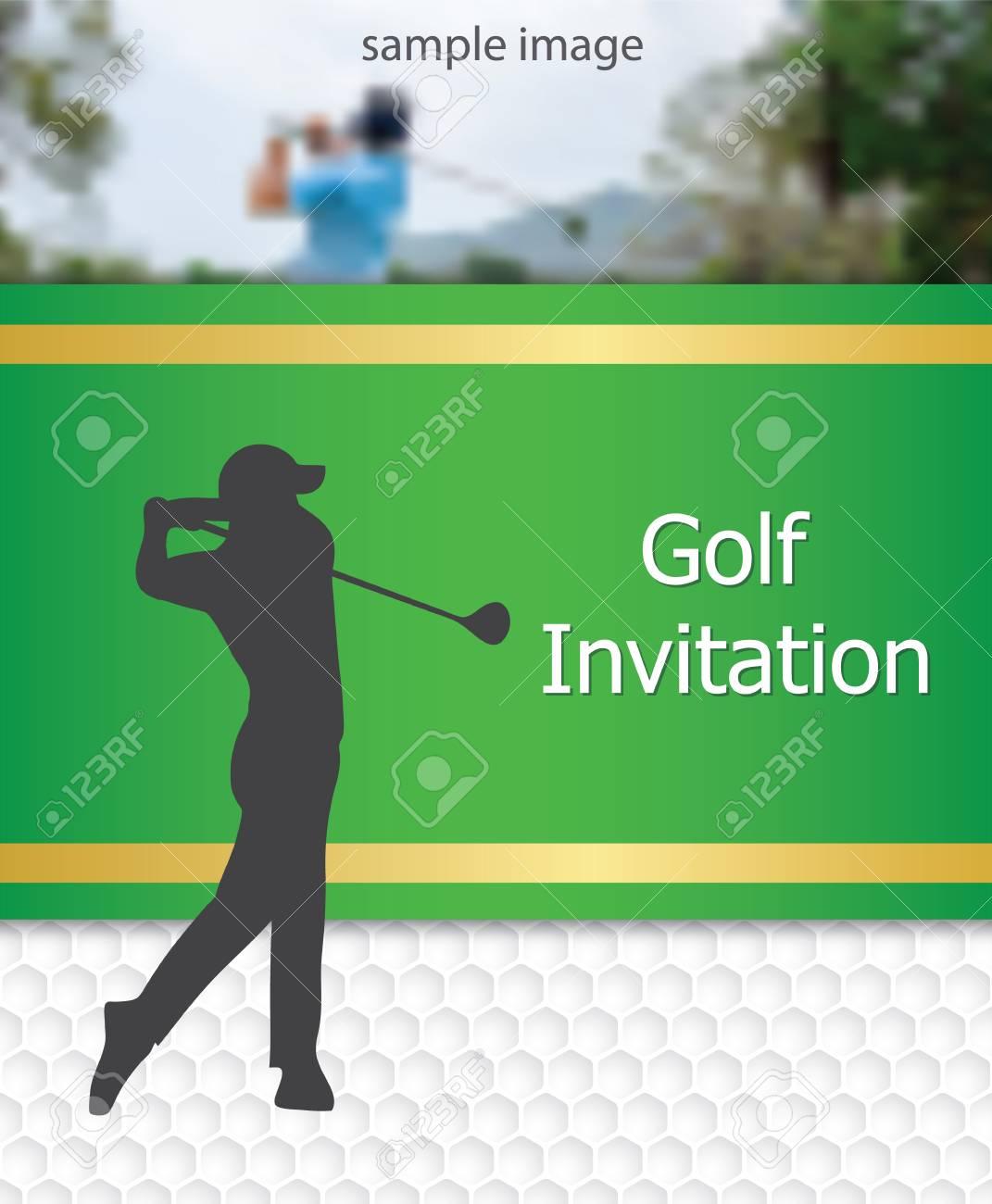 Golf Tournament Invitation Flyer Template Graphic Design Golfer - Golf tournament flyer template