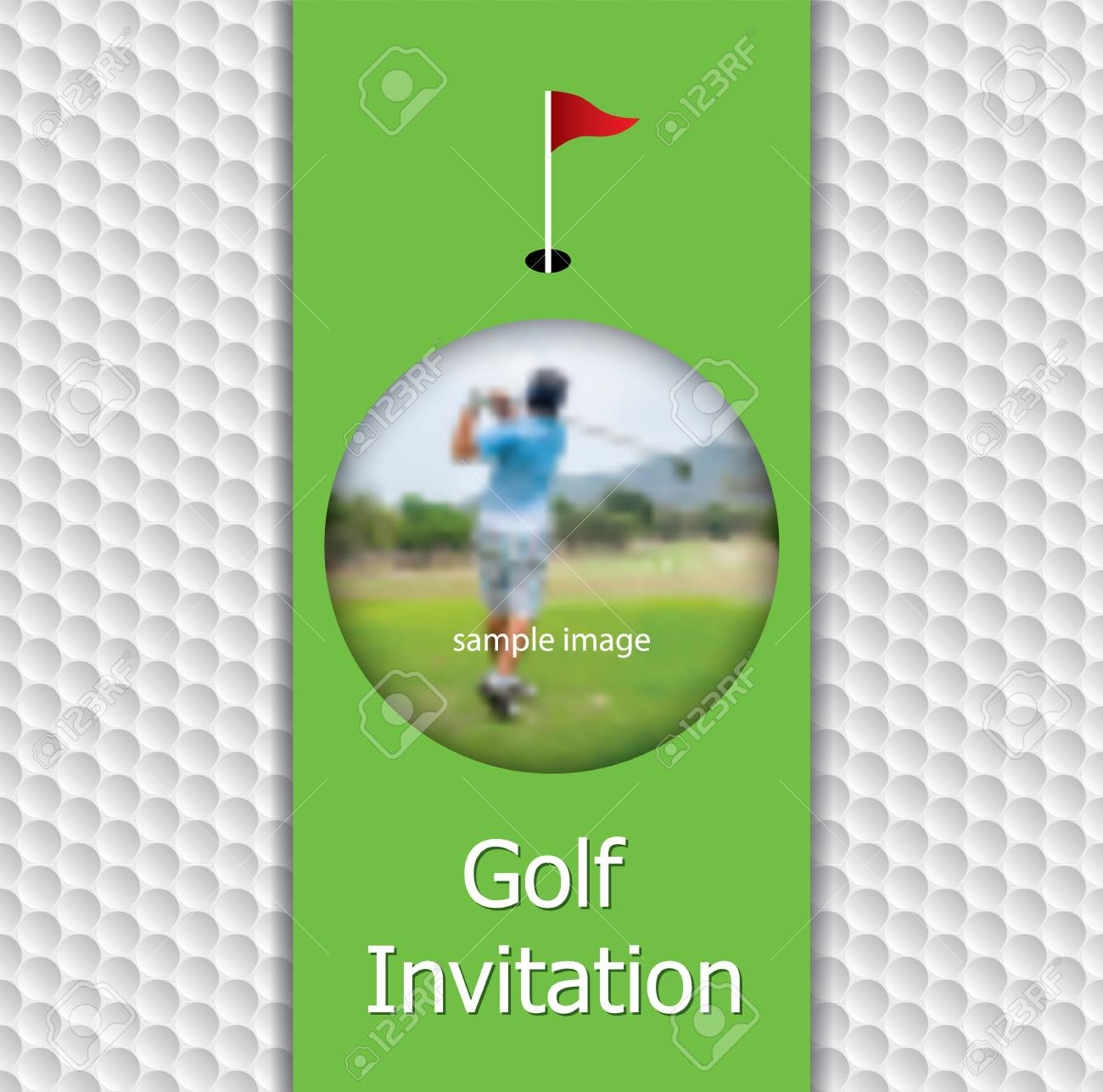 Golf Tournament Invitation Flyer Template Graphic Design On Golf