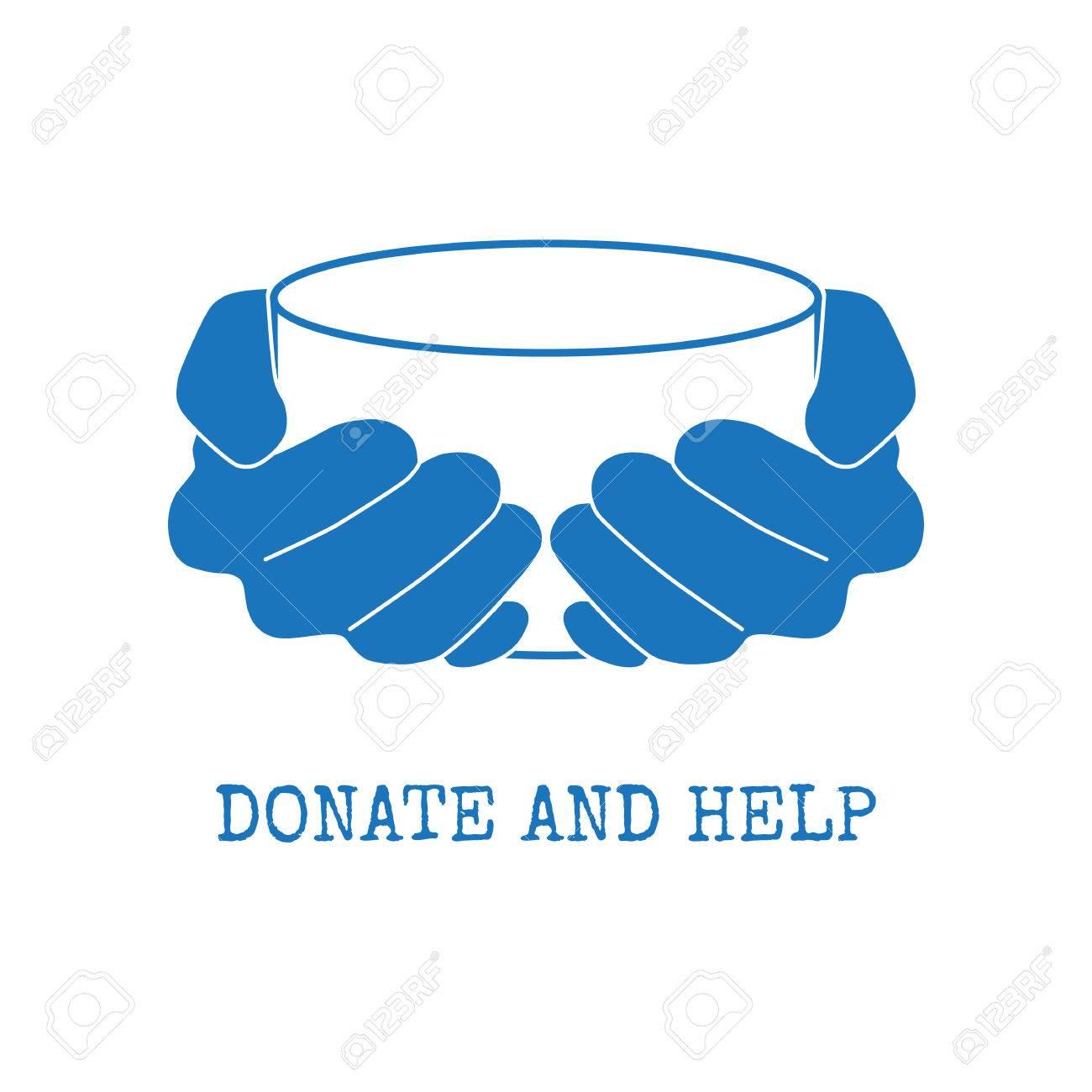 Empty handed begging poor beggar. Empty-handed. two hands of a poor man  showing his empty hands. isolated vector outline