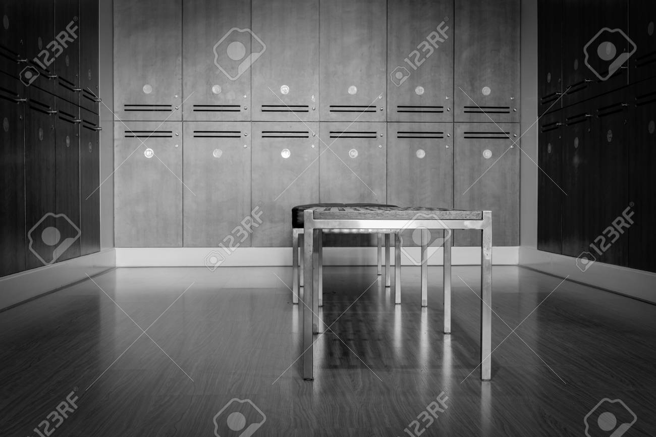Dramatic Black And White Locker Room Cabinet And Bench Focus Stock Photo Picture And Royalty Free Image Image 95631745
