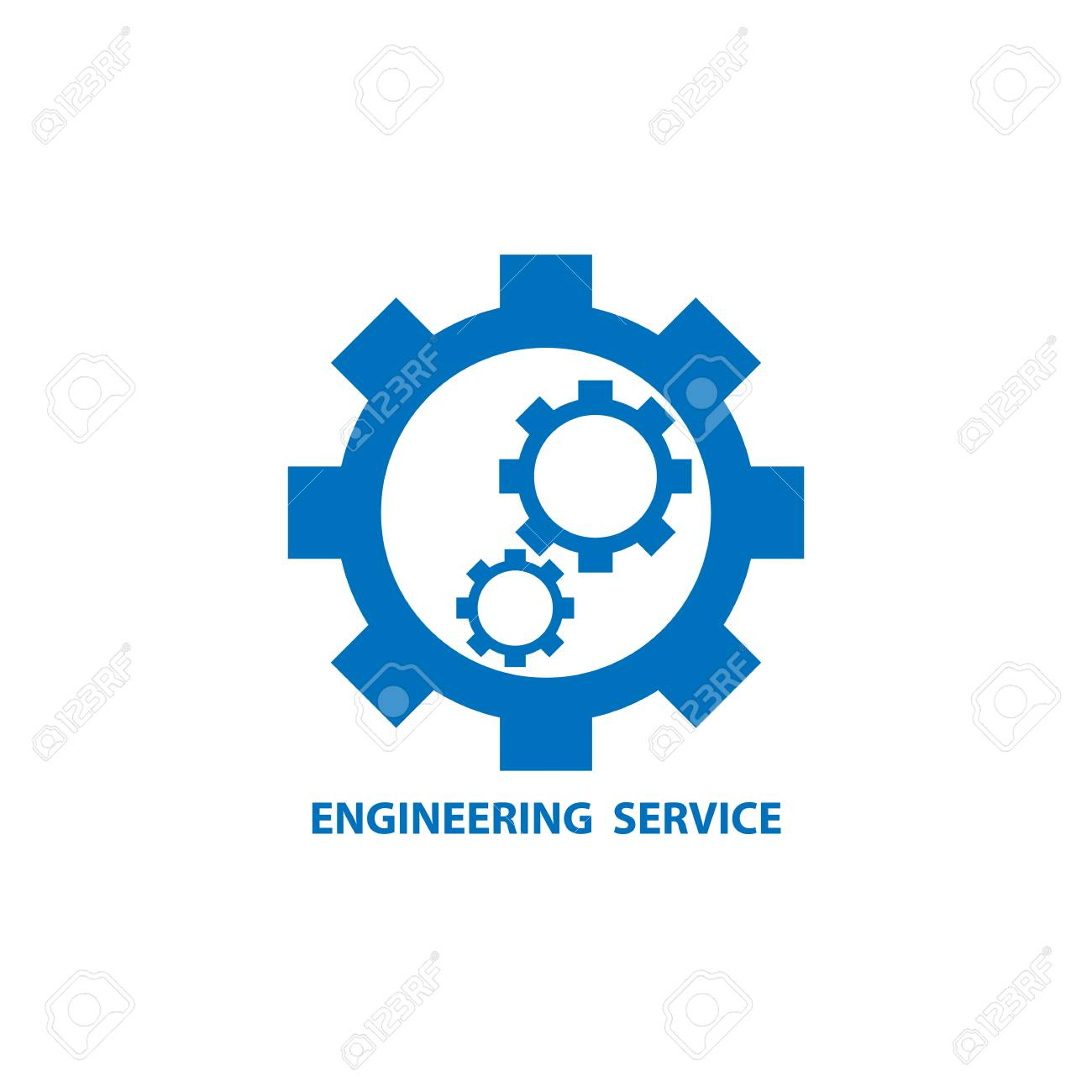 mechanical gear as engineering service icon logo vector graphic rh 123rf com mechanical engineering logo images mechanical engineering logos and symbols