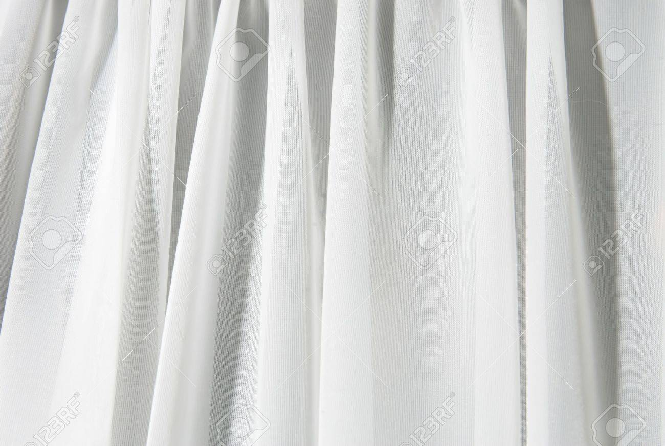 White curtain texture - Stock Photo Abstract White Texture Of Drapery And Linens