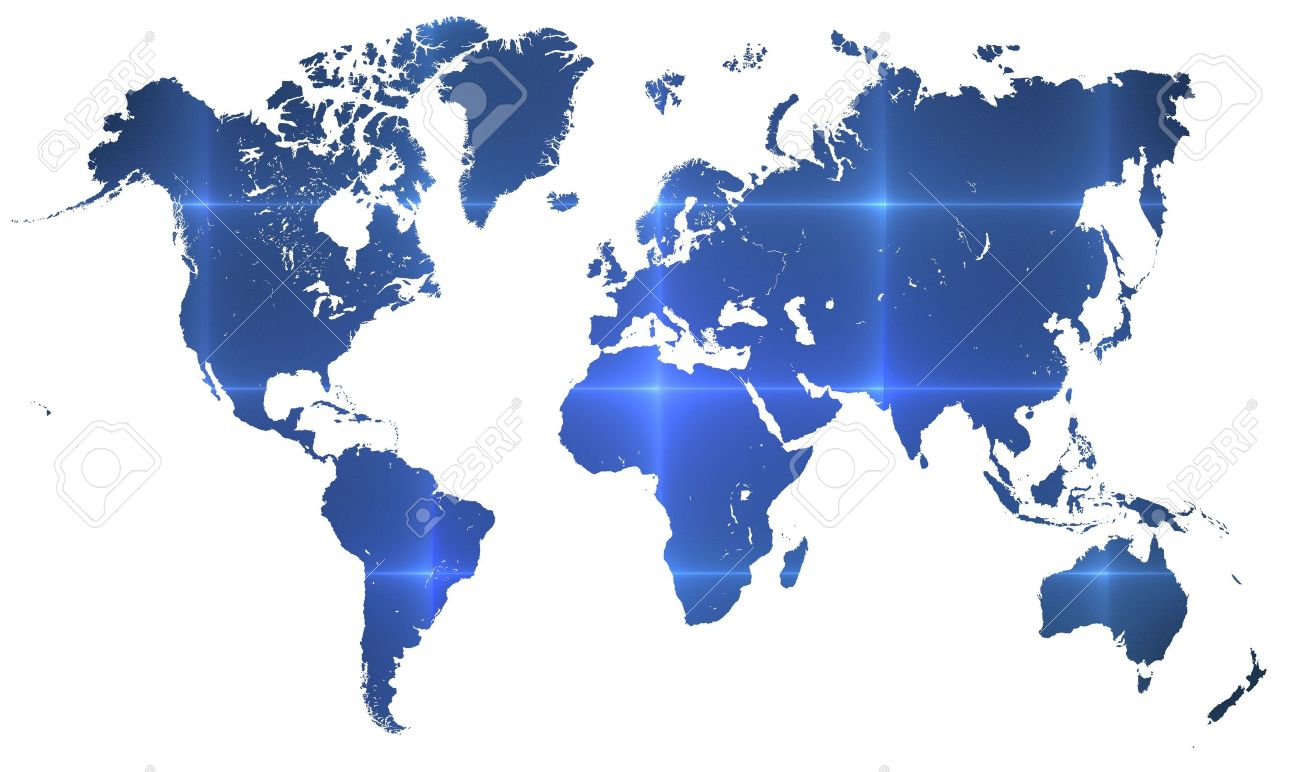 World map over white with interconnected tech lines crisscrossing stock photo world map over white with interconnected tech lines crisscrossing the earth horizontal format for computer or technology concept gumiabroncs Choice Image