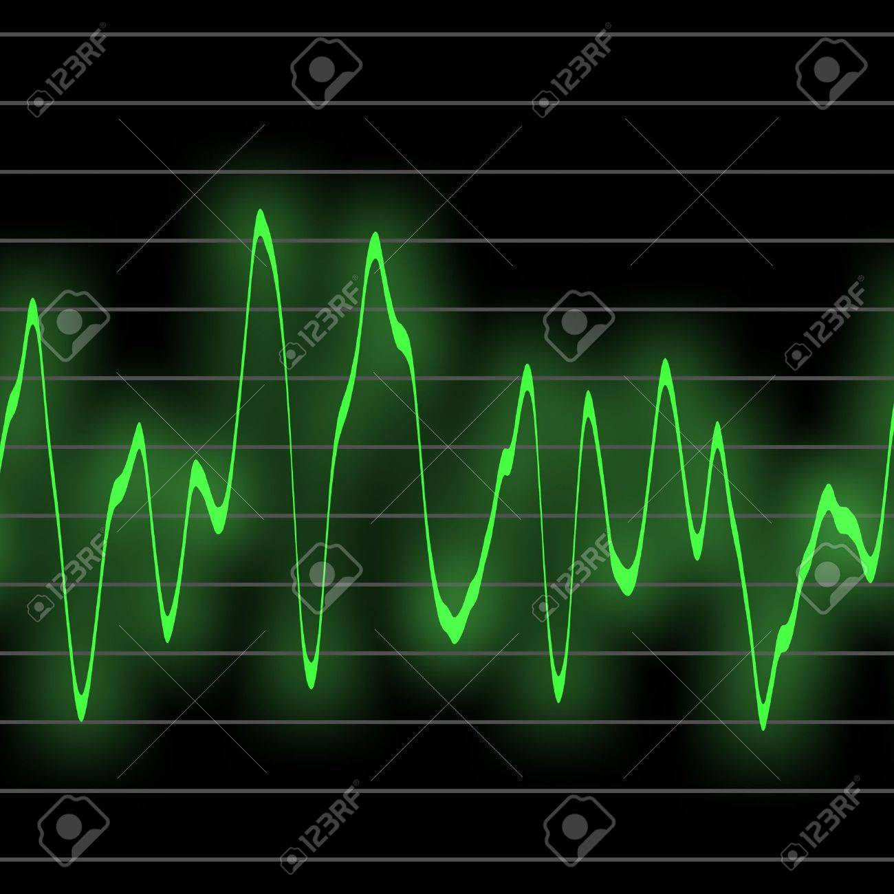 電子音楽から輝くネオン緑で打ち...