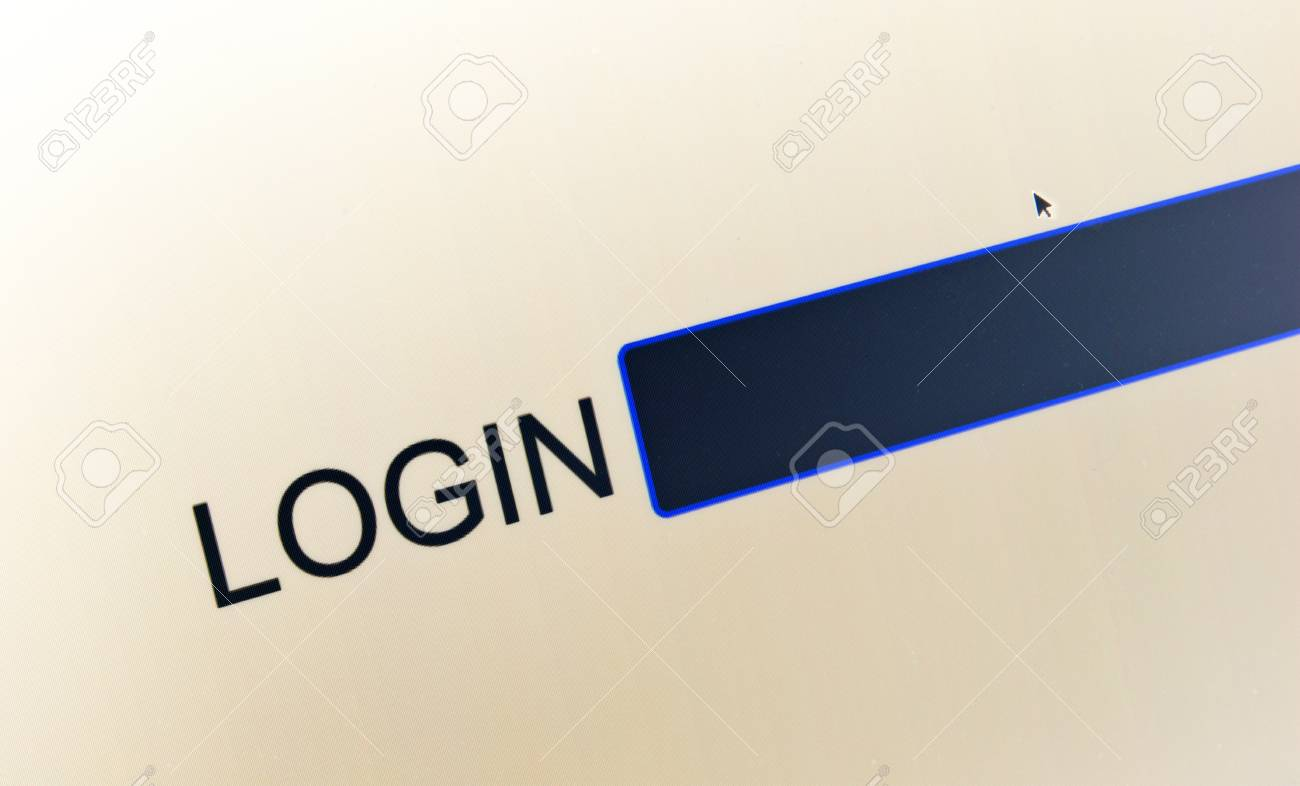 Login and password on computer screen to access restricted area Stock Photo - 19698206
