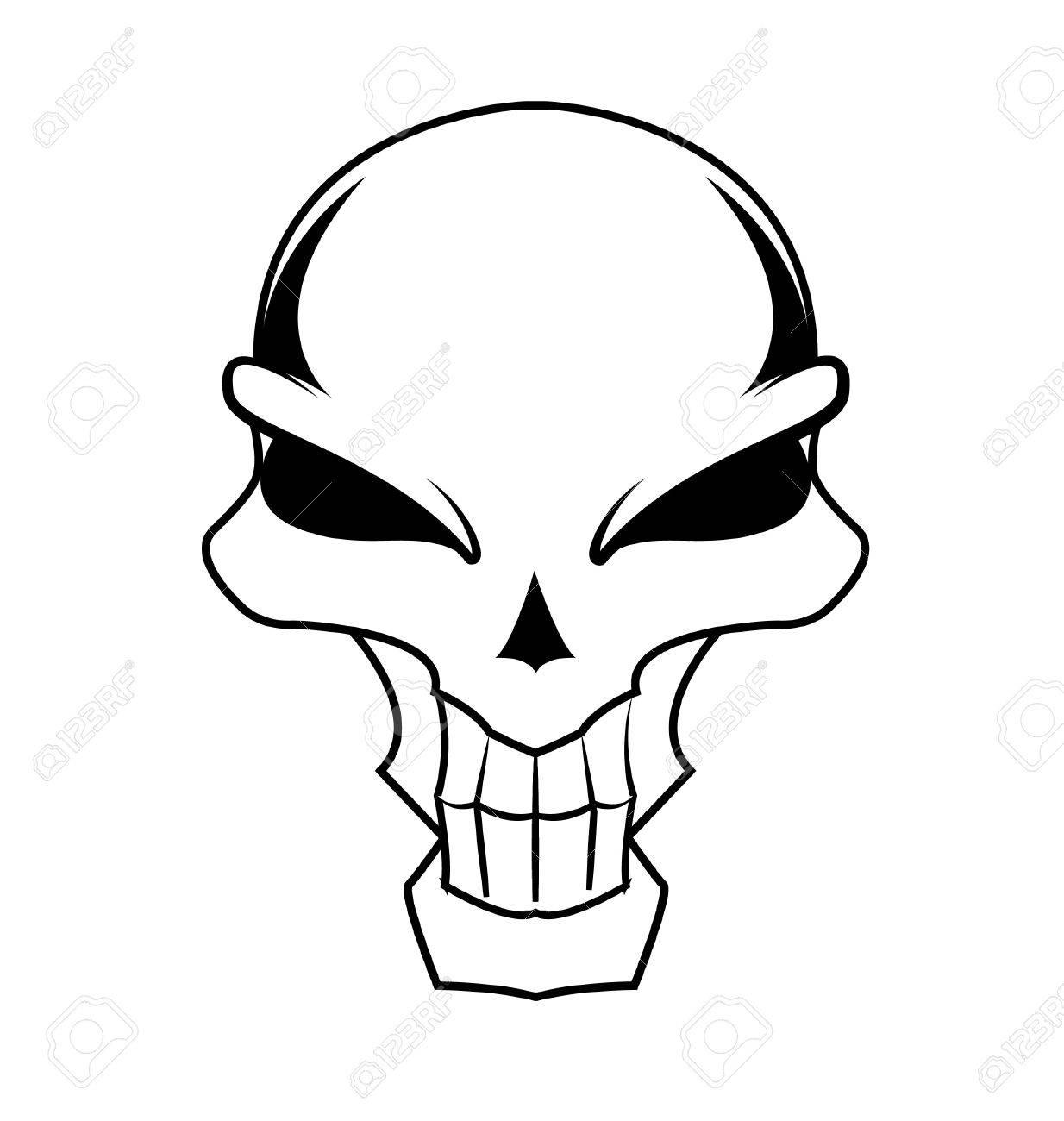 simple black skull Stock Vector - 19732197