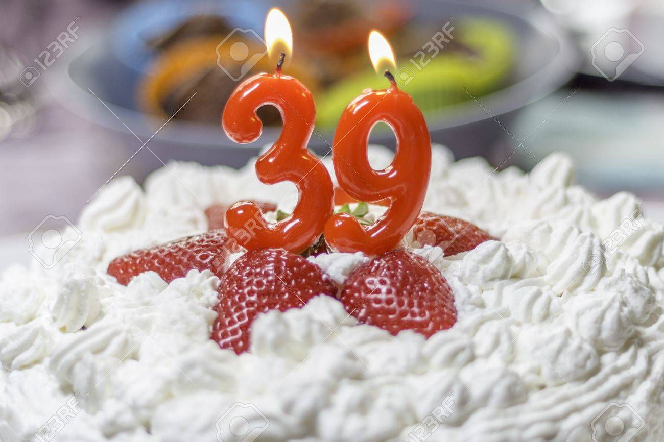 39th Birthday Cake Stock Photo Picture And Royalty Free Image