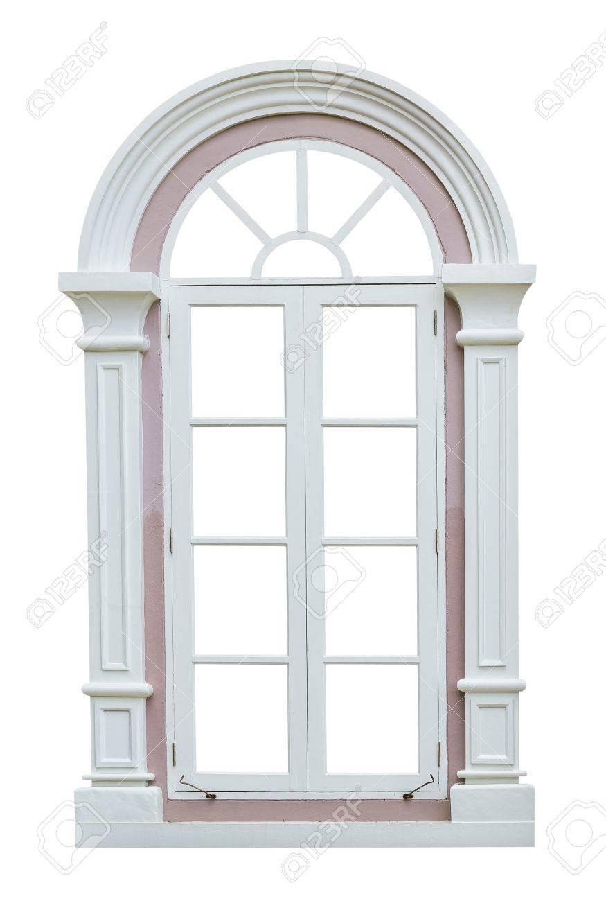 Classic Window Frame Isolated On White Background Stock Photo ...