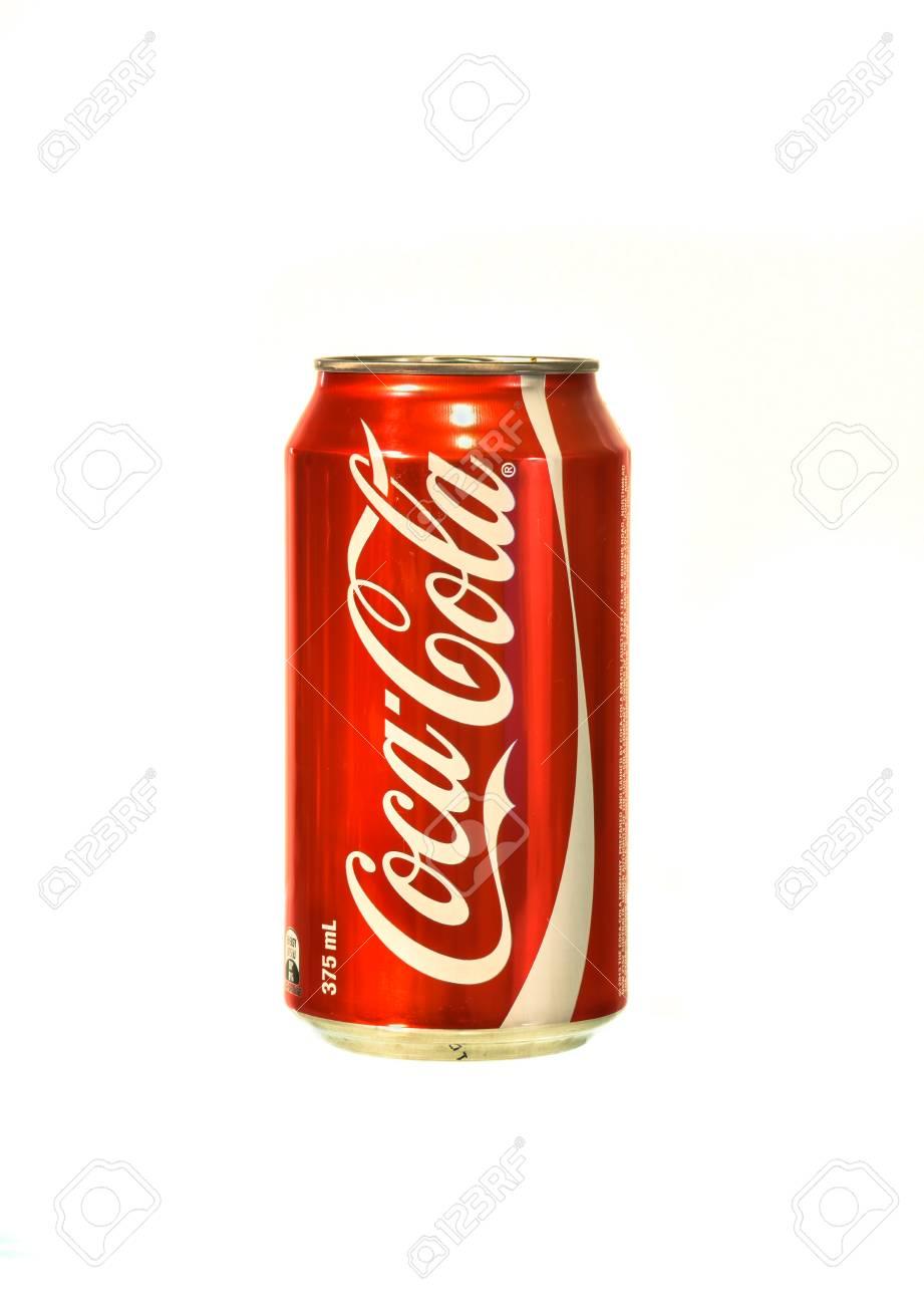 Sydney Australia 28 Gennaio 2015 A Coca Cola Su Sfondo Bianco