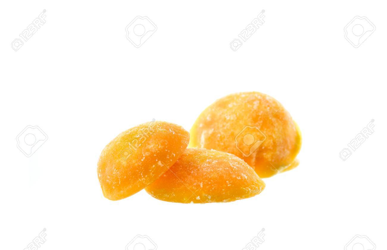 Jaggery or sugar from palm or coconut isolated on white background