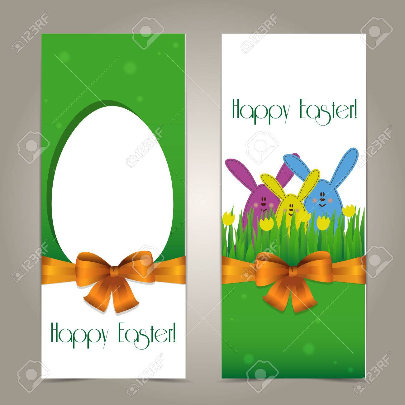Happy easter cards two funny easter cards with copy space for happy easter cards two funny easter cards with copy space for text stock vector kristyandbryce Choice Image