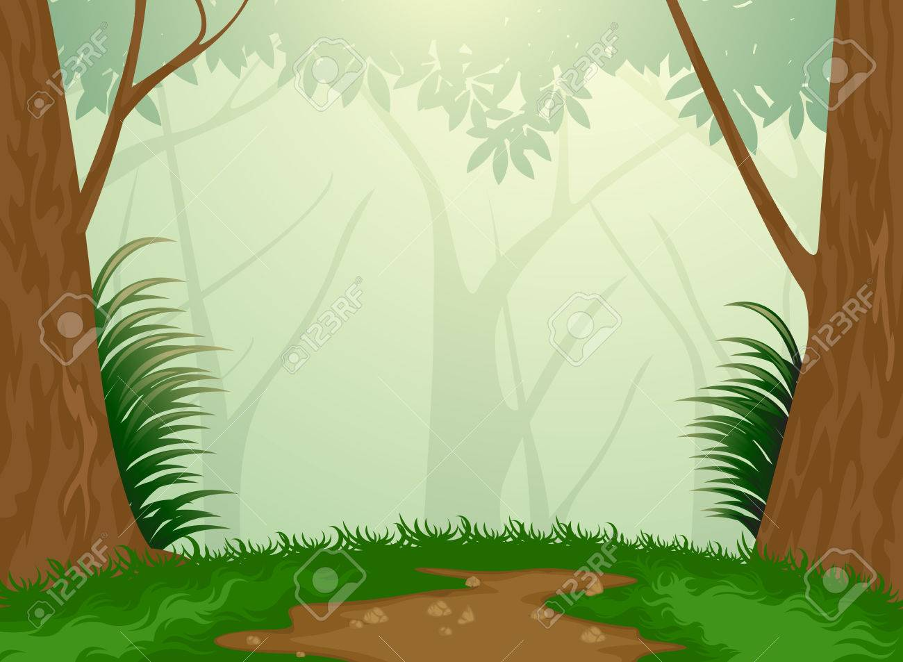 Beautiful Tropical Evergreen Forest Nature Background Royalty Free Cliparts Vectors And Stock Illustration Image 26584265 The conditions of this biome. beautiful tropical evergreen forest nature background