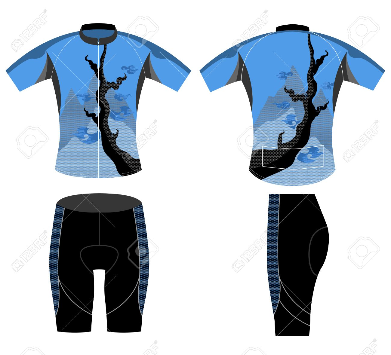 Cycling Vest Sports T Shirt Design Style Vector On A White