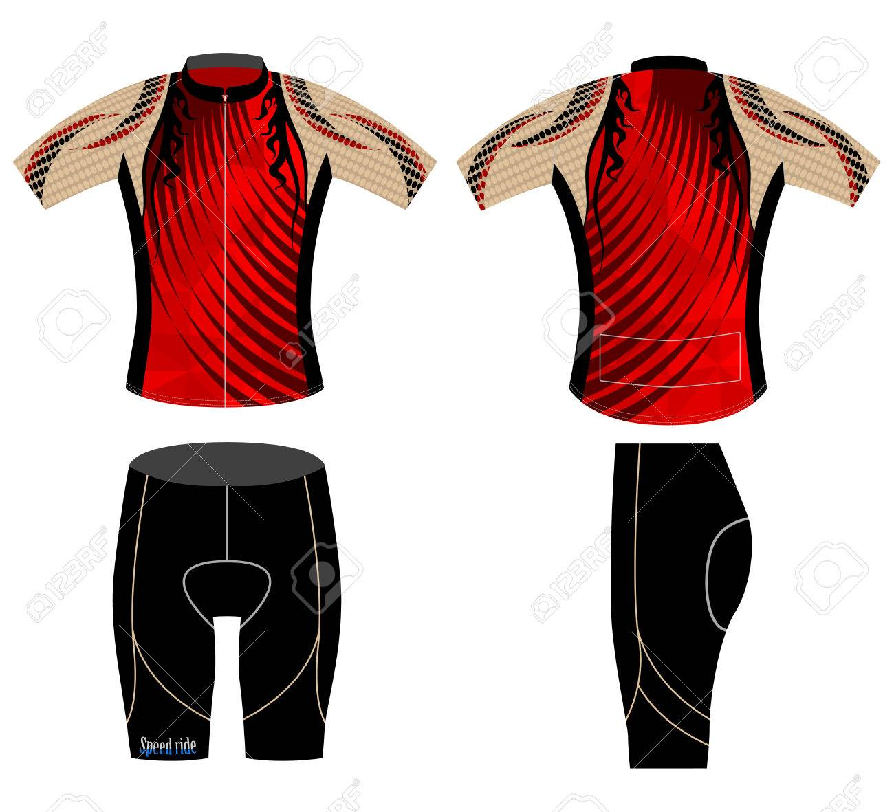 Design t shirt vector - Graphic Cycling Vest Design Sports T Shirt Vector Background Stock Vector 48195844