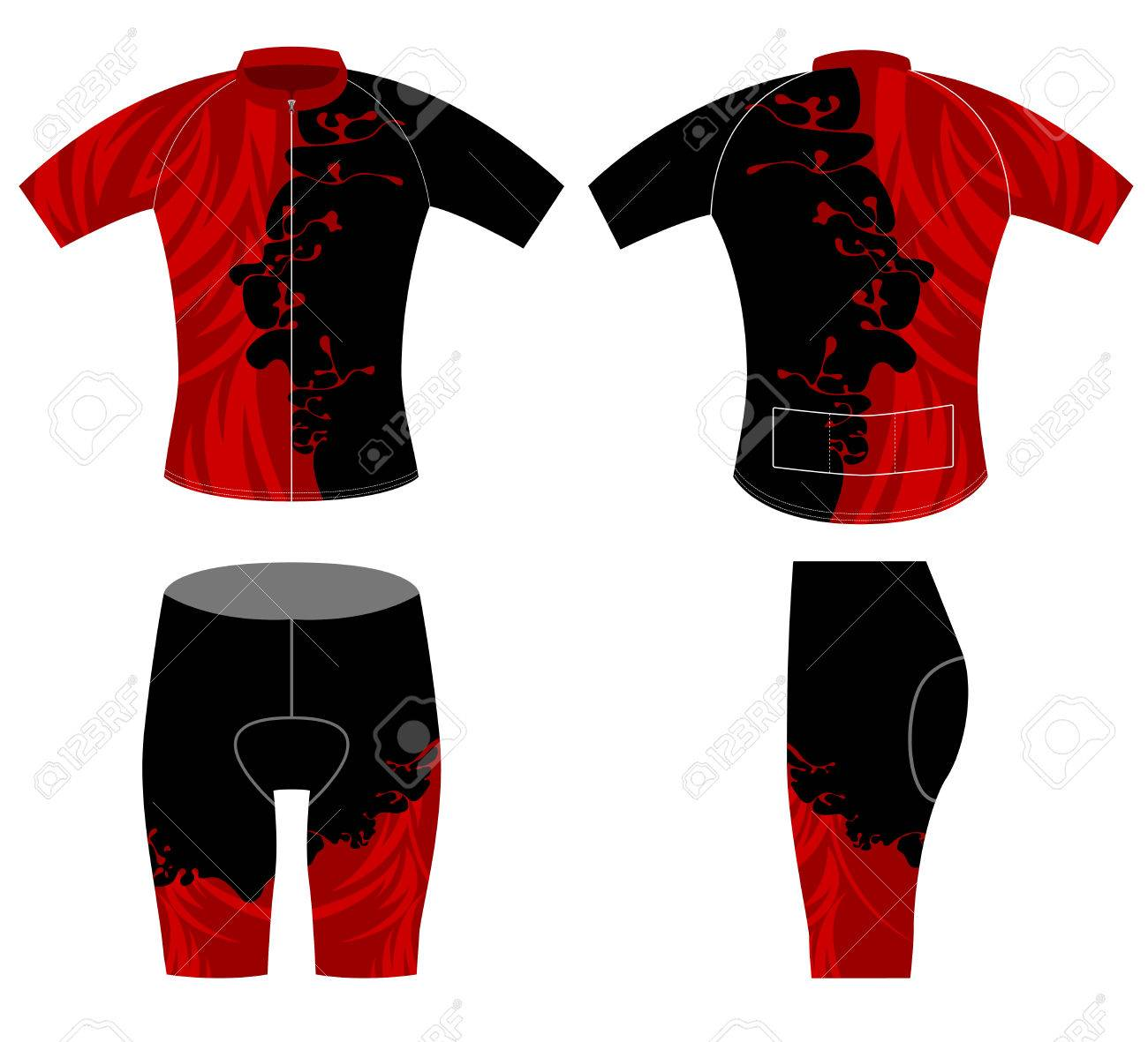 322f1b6f129e Red and black sports t-shirt vector design on a white background Stock  Vector -