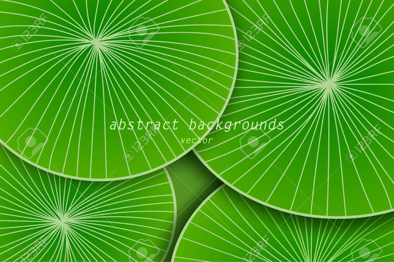 Abstract Green Leaf Art Pattern Scene Vector Wallpaper Backgrounds