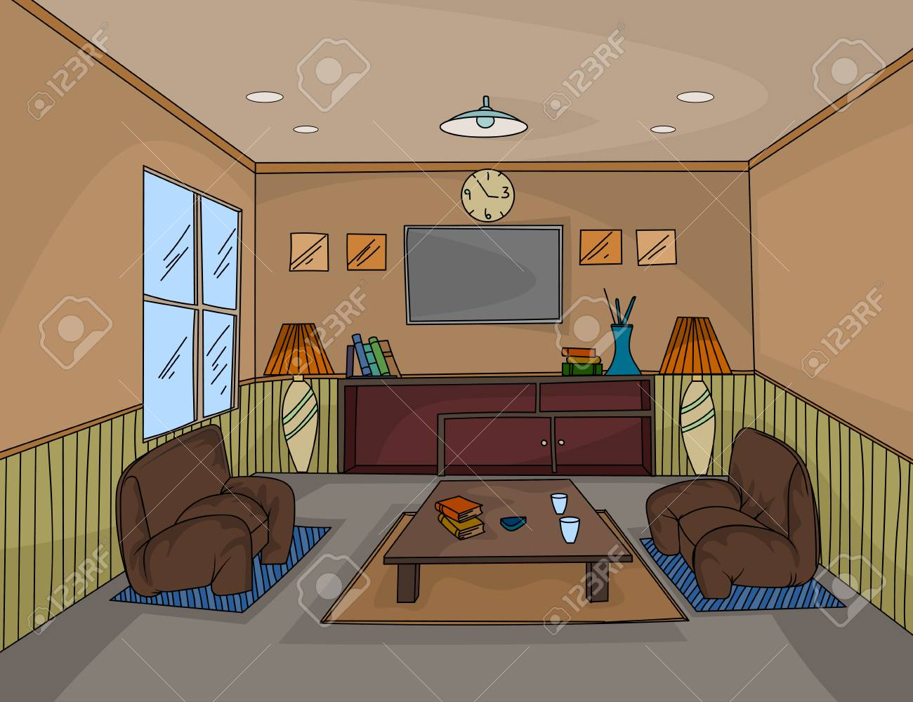 Interior Living Room Colors Scene Vector House Interior Backgrounds
