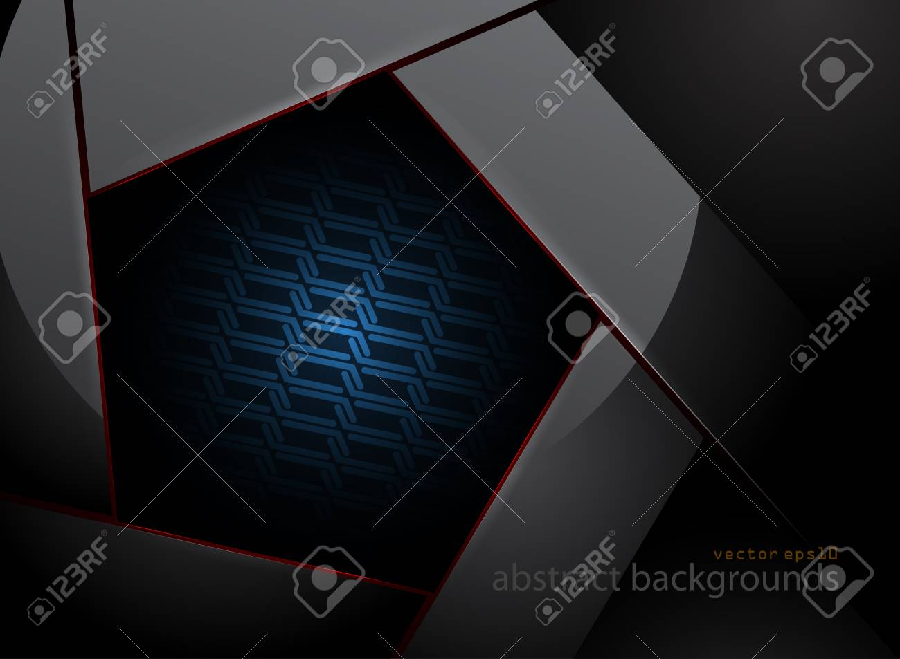 Pentagonal Shapes In Dark Scene Vector Abstract Wallpaper Backgrounds